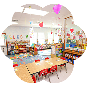 Modern daycare classrooms for children of all ages in San Antonio and Austin Texas