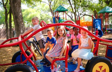 Playground equipment for children of all sizes