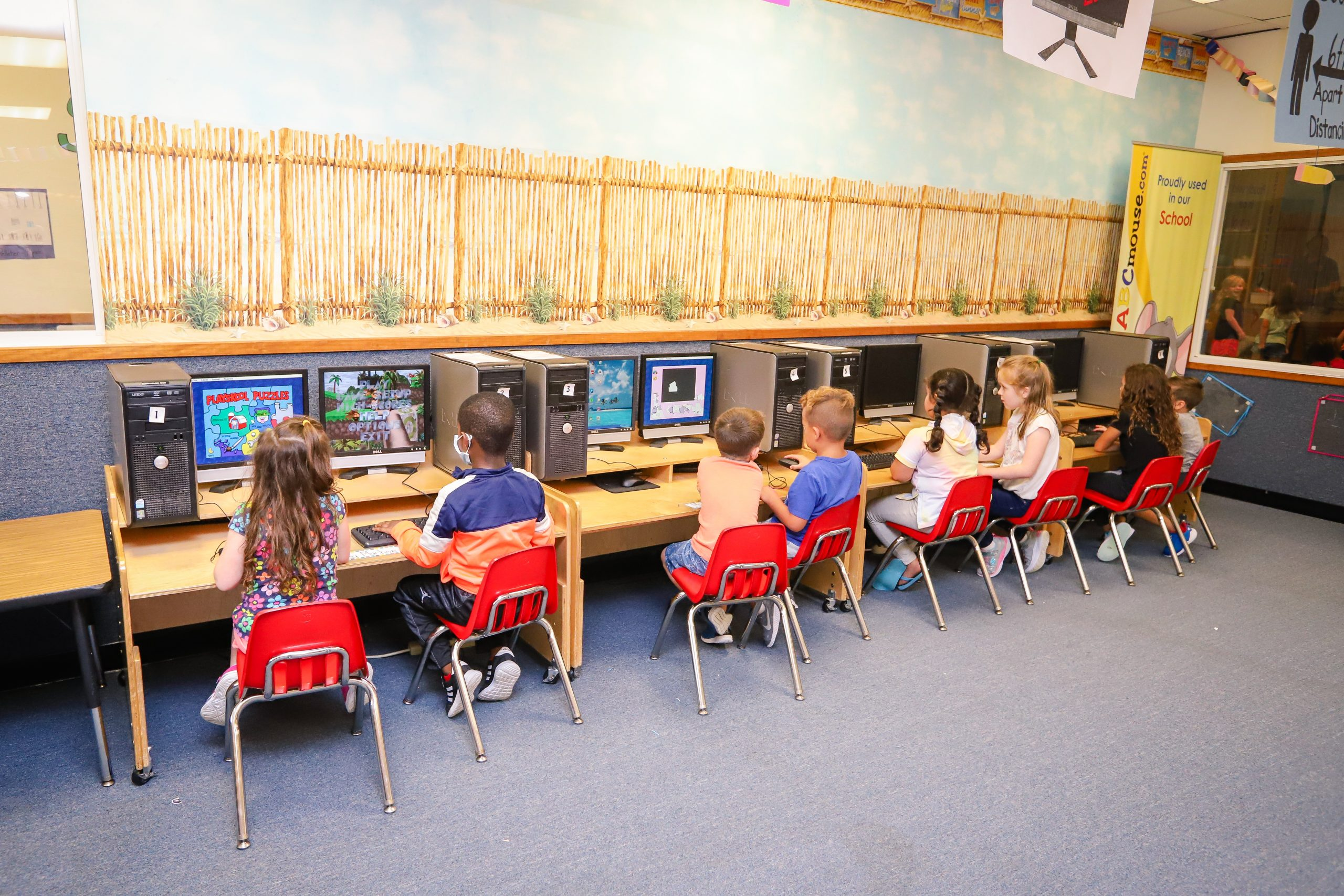 Our modern childcare facilities include fun and safe environments to use computers